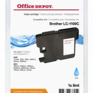 Office Depot Brother LC1100C kompatibilis patron, cián