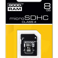 GOODRAM Micro SDHC 8GB Class 4 + adapterrel