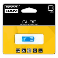 GOODRAM pendrive, 8GB, USB 2.0 , 'Cube' kék