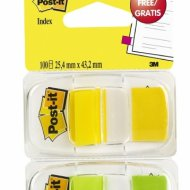 Post-it 680-YG2 jelölőcímke 25x43mm zöld, sárga 2x50db