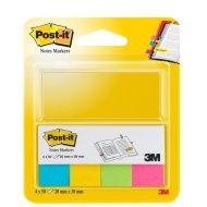 Post-it 670-4U jelölőlapok 20×38 mm ultra színek 4×50db